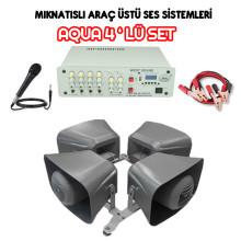 Dmm Aqua 4lü Set Mıknatıslı Araç Üstü Ses Sistemi