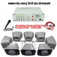 Dmm Aqua 8li Set Mıknatıslı Araç Üstü Ses Sistemi