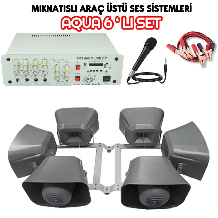 Dmm Aqua 6lı Set Mıknatıslı Araç Üstü Ses Sistemi